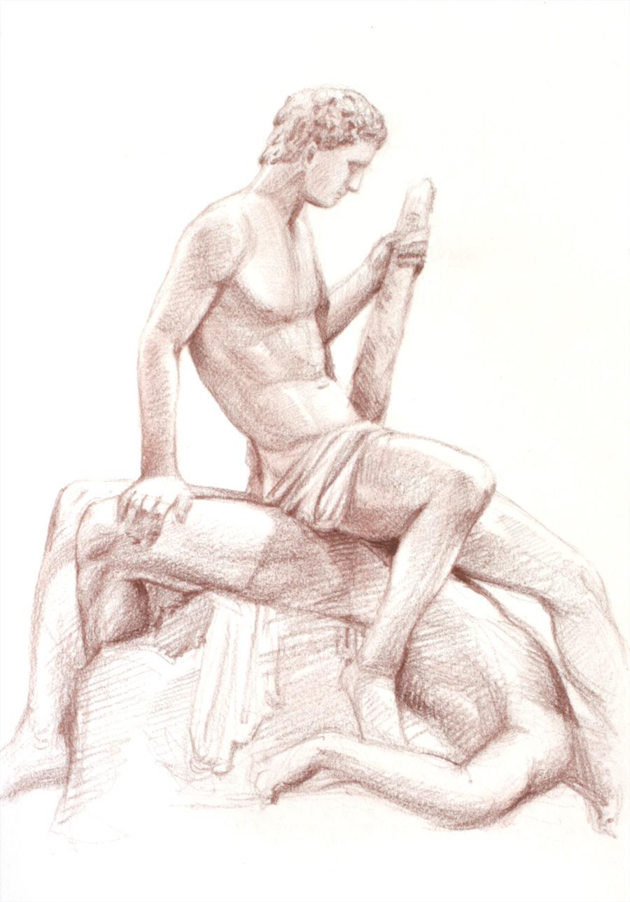Tezeusz i Minotaur Canovy