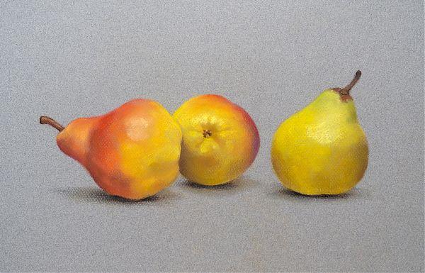 Trzy żółte gruszki